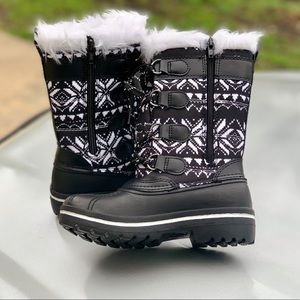 Girls' Tall Lace-Up Water Resistant Winter Boot